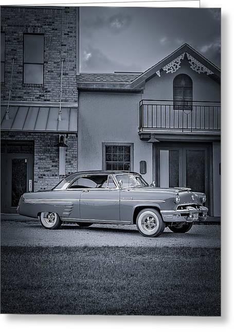 1953 Mercury Monterey Bw 5 Greeting Card