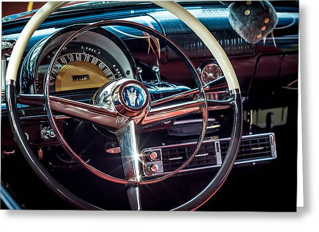1953 Mercury Monterey Dashboard Greeting Card by David Morefield