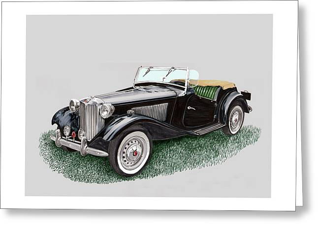 Mg T D 1953 Greeting Card by Jack Pumphrey