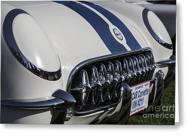 1953 Nascar Corvette Greeting Card by Dennis Hedberg