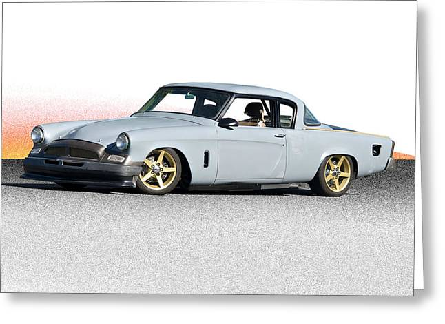 1953 Studebaker 'in Process Primer' Greeting Card by Dave Koontz