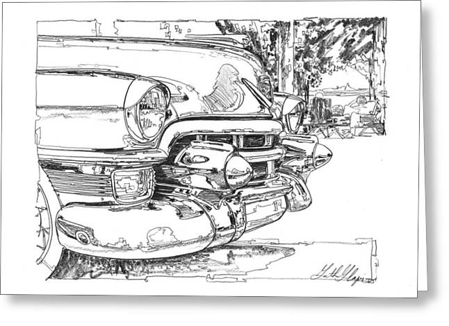 1954 Cadillac Study Greeting Card