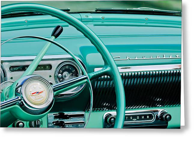 1954 Chevrolet Belair Steering Wheel 3 Greeting Card