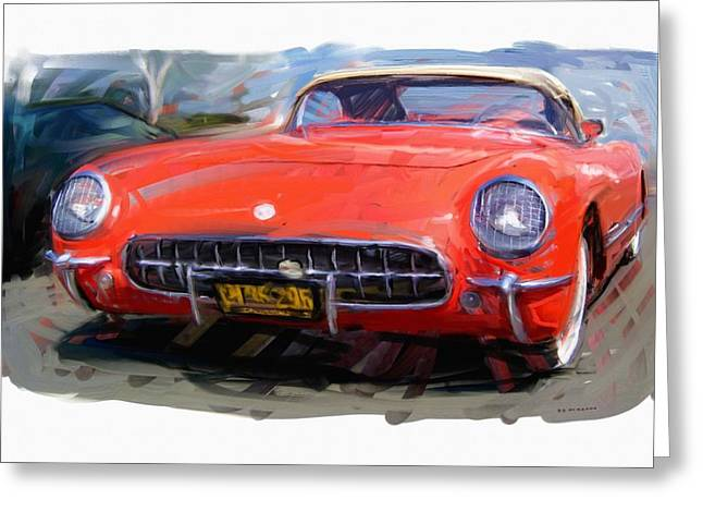 1954 Chevrolet Corvette Greeting Card