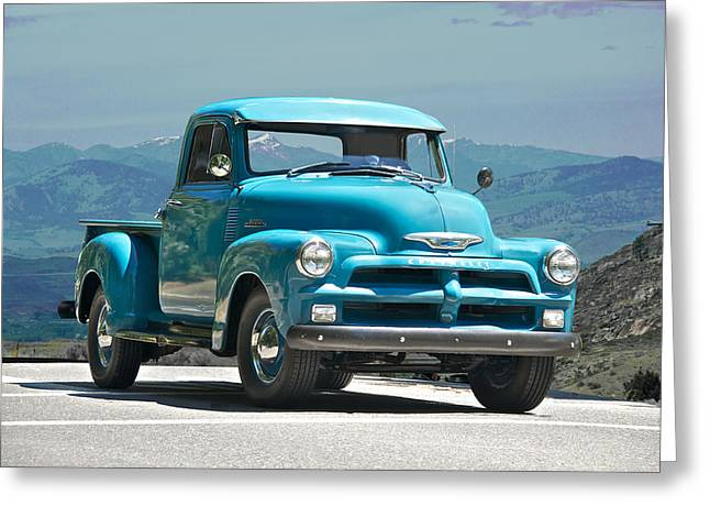 1954 Chevrolet 'down Home' Pick Up Truck Greeting Card