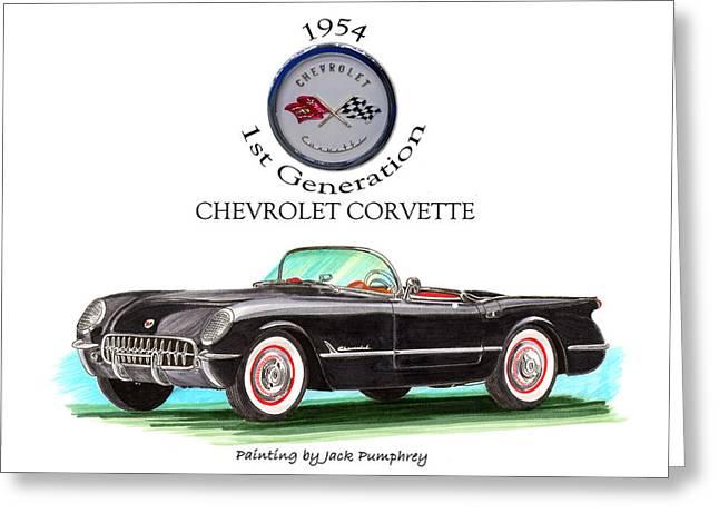 Corvette First Generation Greeting Card by Jack Pumphrey