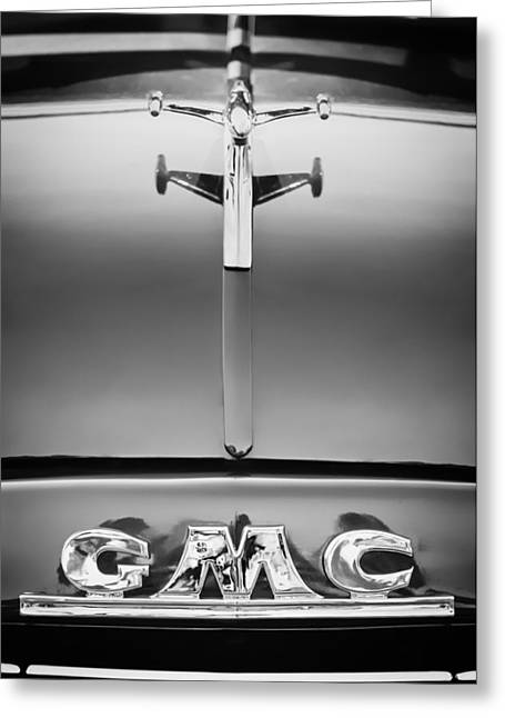 1954 Gmc Pickup Truck Hood Ornament - Emblem Greeting Card by Jill Reger