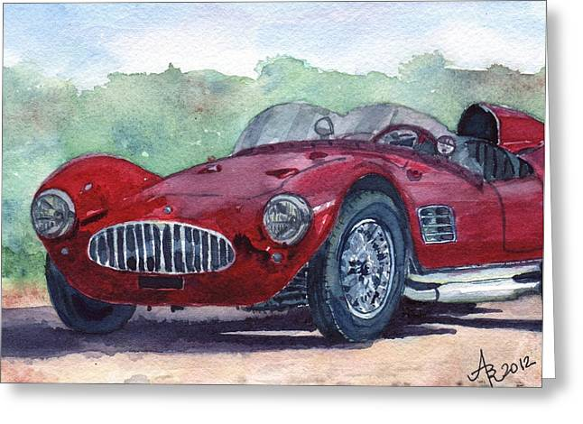 1954 Maserati A6 Gsc Tipo Mm Greeting Card