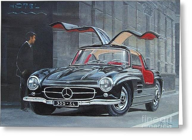 1954 Mercedes Benz 300 Sl Gullwing Greeting Card