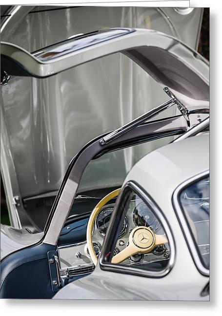 1954 Mercedes-benz 300sl Gullwing Steering Wheel -1653c Greeting Card