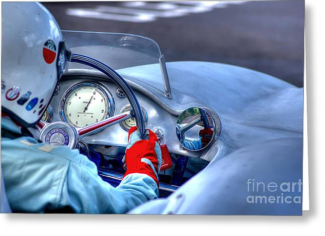 1954 Mercedes-benz W196  Greeting Card by J A Evans
