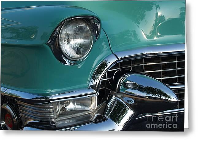 1955 Cadillac Coupe De Ville Closeup Greeting Card