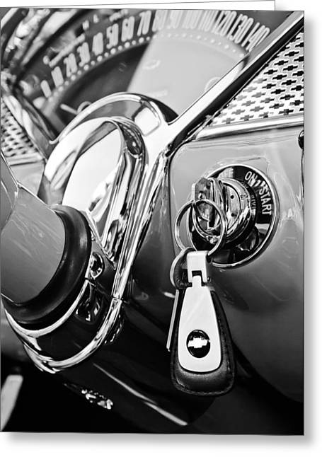 1955 Chevrolet 210 Spedometer Greeting Card by Jill Reger