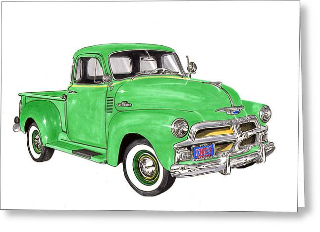 1955 Chevrolet 5 Window Pick Up Greeting Card
