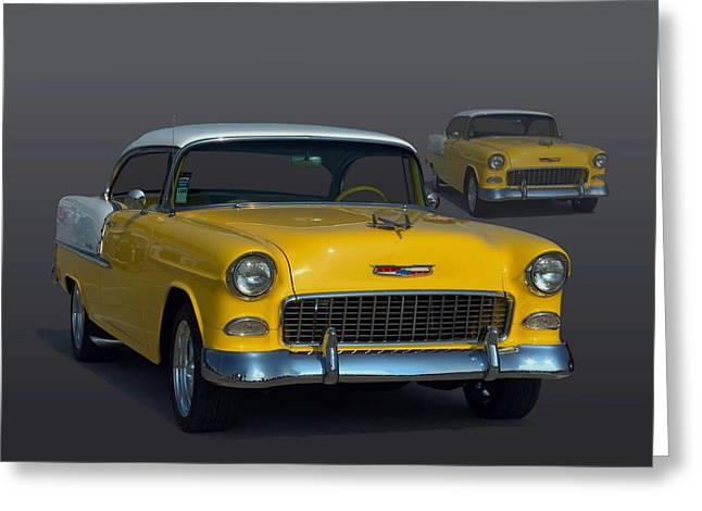 1955 Chevrolet Bel Air Hot Rod Greeting Card