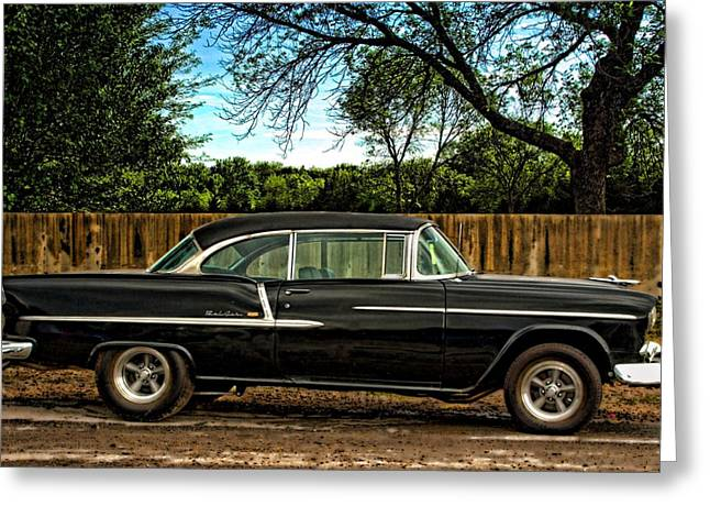 Greeting Card featuring the photograph 1955 Chevrolet Belair by Tim McCullough