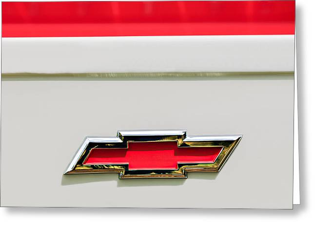 1955 Chevrolet Cameo Pickup Truck Emblem Greeting Card