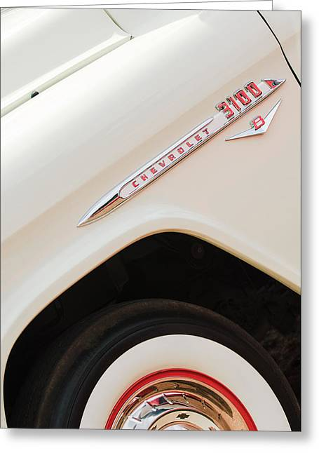 1955 Chevrolet Cameo Pickup Truck Greeting Card by Jill Reger