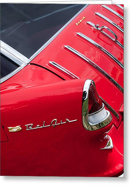 1955 Chevrolet Nomad Wagon Taillight Emblem Greeting Card by Jill Reger