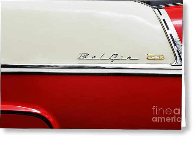 1955 Chevrolet Sport Coupe Greeting Card by Tim Gainey