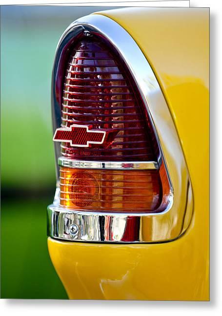 1955 Chevrolet Taillight Emblem Greeting Card by Jill Reger