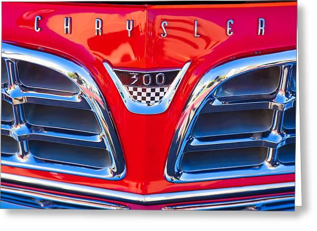 1955 Chrysler C-300 Grille Emblem Greeting Card