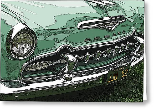1955 Desoto Grille Greeting Card by Samuel Sheats