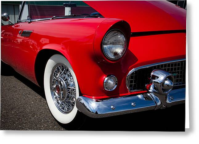 1955 Ford T-bird Greeting Card by David Patterson
