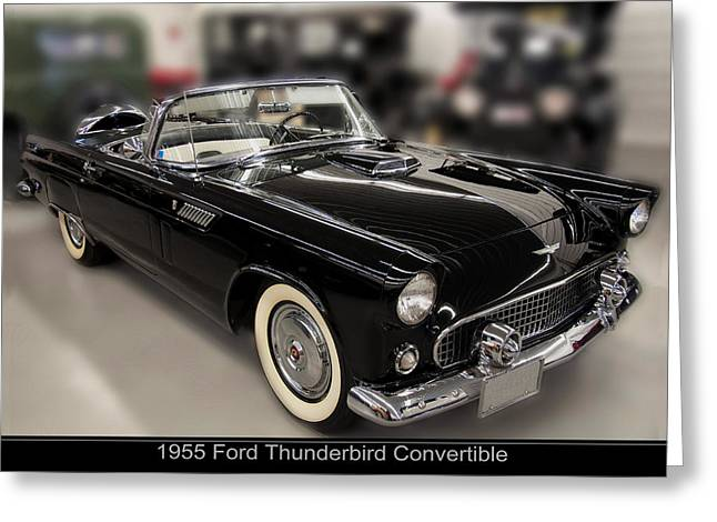 1955 Ford Thunderbird Convertible Greeting Card by Chris Flees