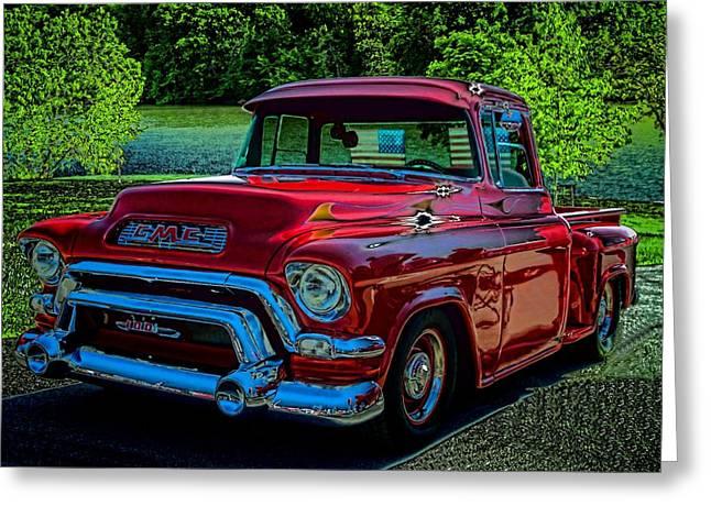 1955 Gmc 100 Pickup Truck Greeting Card