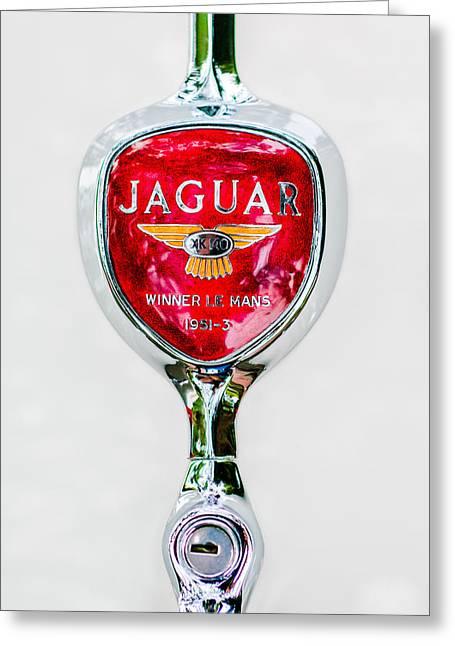 1955 Jaguar Emblem -0012c Greeting Card
