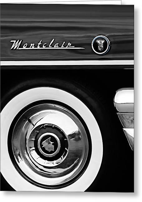 1955 Mercury Montclair Convertible Wheel Emblem Greeting Card by Jill Reger