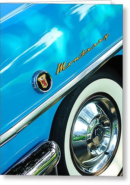 1955 Mercury Monterey Wheel Emblem Greeting Card by Jill Reger