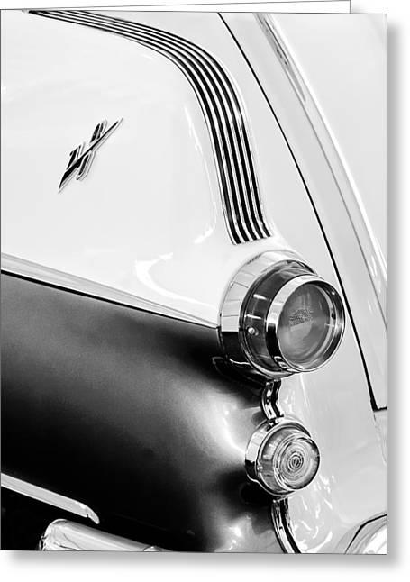 1955 Pontiac Safari Taillight Emblem Greeting Card by Jill Reger