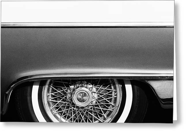 1955 Pontiac Star Chief Wheel Emblem Greeting Card by Jill Reger