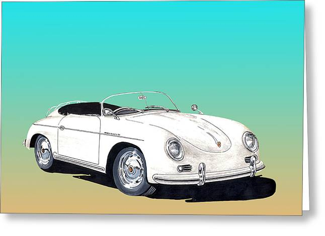1955 Porsche Speedster Rhd Greeting Card by Jack Pumphrey