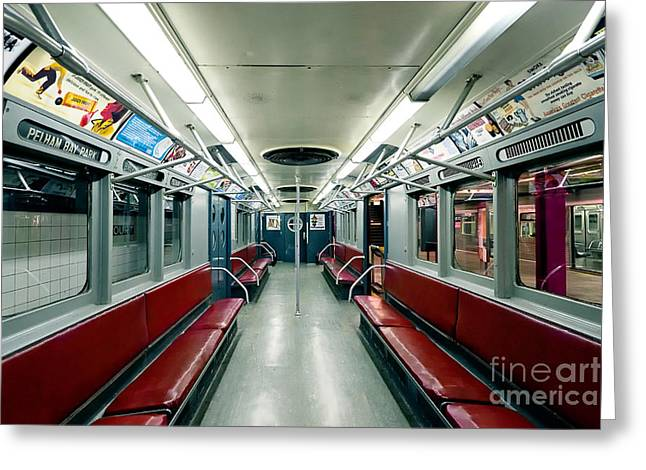 1955 Vintage Nyc Subway Train Greeting Card