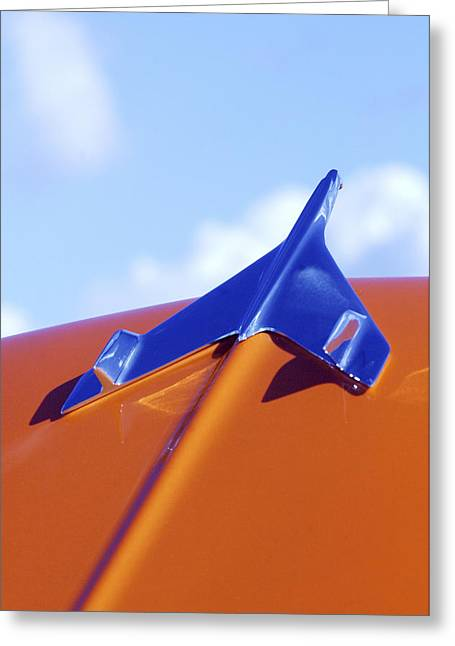 Car Part Greeting Cards - 1956 Chevrolet Belair Hood Ornament Greeting Card by Jill Reger