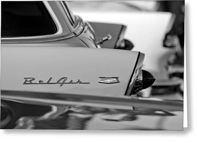 1956 Chevrolet Belair Nomad Rear End Emblem Greeting Card