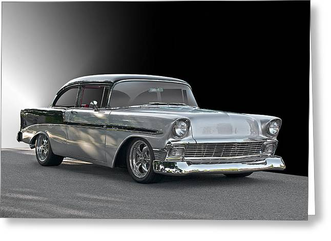 1956 Chevrolet 'post' Coupe Greeting Card by Dave Koontz