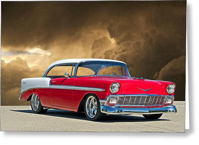 1956 Chevy Bel Air Greeting Card by Dave Koontz