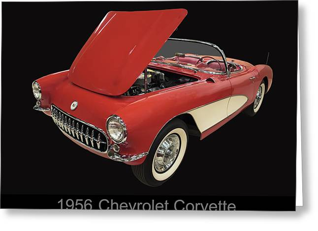 1956 Chevy Corvette Greeting Card