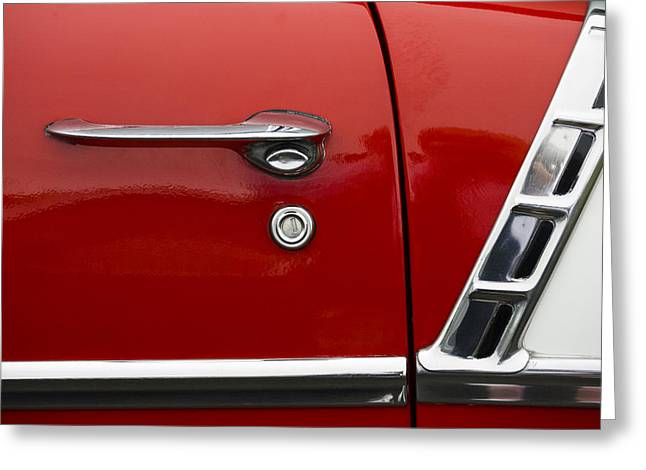 1956 Chevy Door Detail Greeting Card