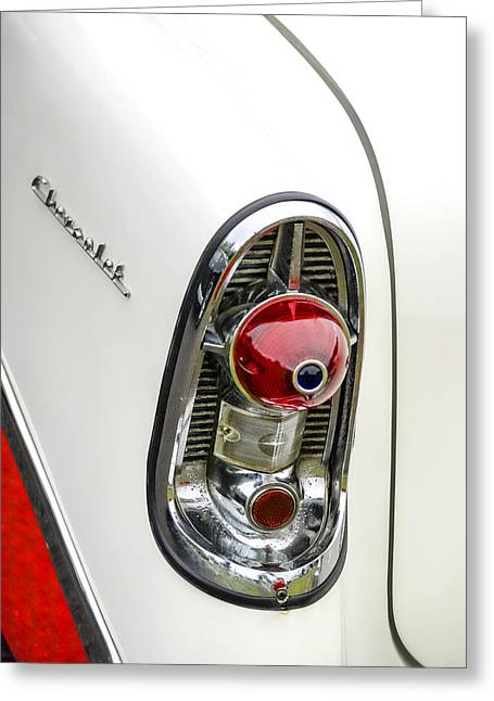 1956 Chevy Taillight Greeting Card by Carol Leigh