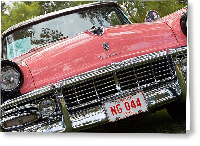 Greeting Card featuring the photograph 1956 Classic Car by Mick Flynn