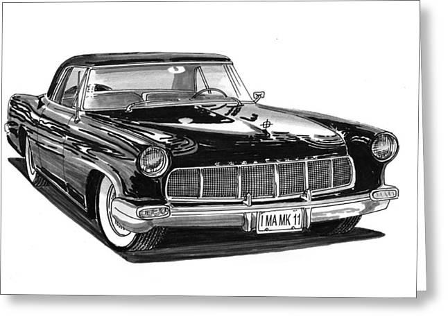 1956 Continental Mk II Greeting Card by Jack Pumphrey