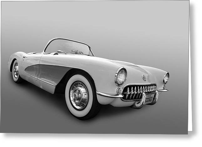 1956 Corvette Greeting Card by Bill Dutting