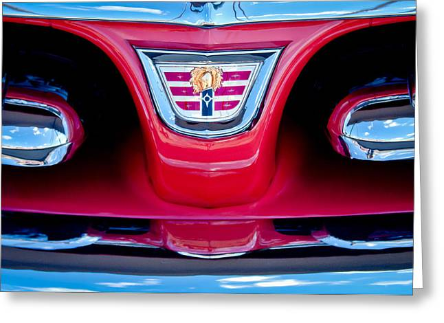 1956 Dodge Royal Lancer Emblem Greeting Card