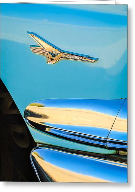 1956 Ford Fairlane Thunderbird Emblem Greeting Card by Jill Reger