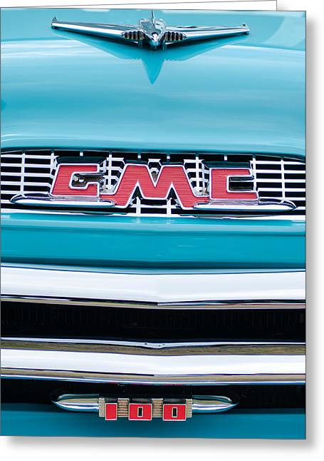 1956 Gmc 100 Deluxe Edition Pickup Truck Greeting Card by Jill Reger